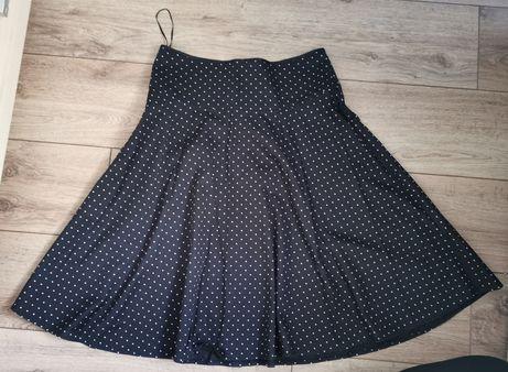 Miss selfidge rozkloszowana spódnica z koła w grochy kropki 38