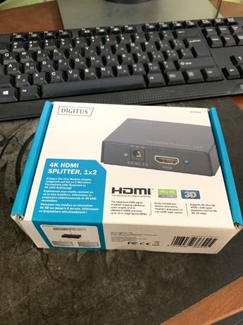 Сплиттер (Разветвитель) DIGITUS HDMI SPLITTER (IN*1 OUT*2) 4K (DS-4630