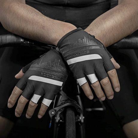 Велоперчатки без пальцев Rockbros чёрные S247BK велосипедные перчатки