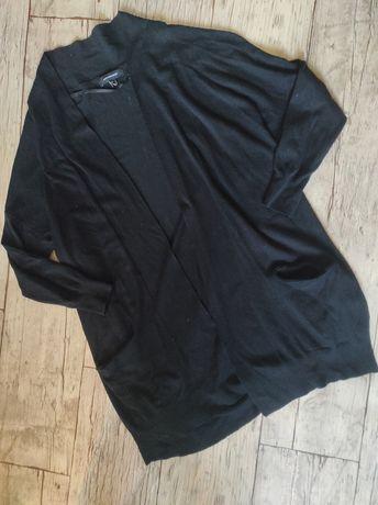 Blezer kardigan czarny długi sweter r. 42 atmosphere