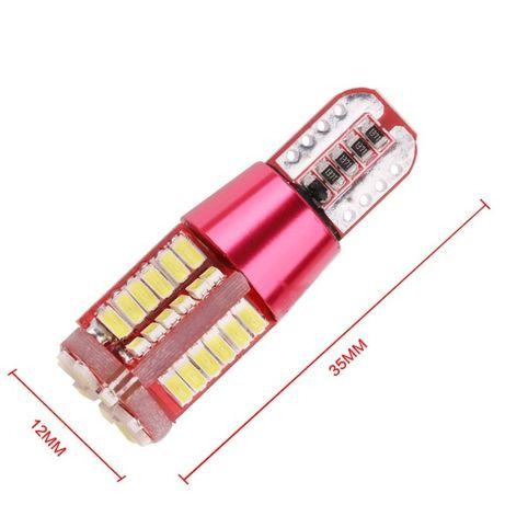 Светодиодные авто-лампы LED для габаритов Т10 5W5 Canbus (с обманкой)