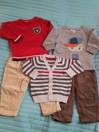 Komplet zestaw ubrań chłopiec 68cm C&A Lupilu George bdb+