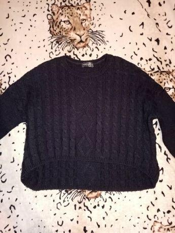 кофта свитер синий свитшот