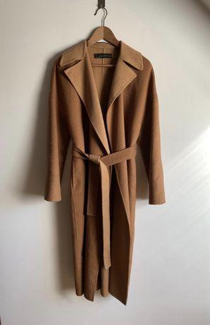 Płaszcz szlafrokowy handmade Zara camel M/38