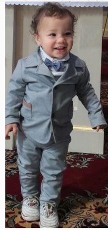 Elegancki garniturek chłopięcy, rozmiar 86