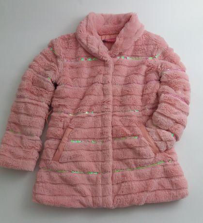 Śliczne różowe futerko rozmiar 110/116