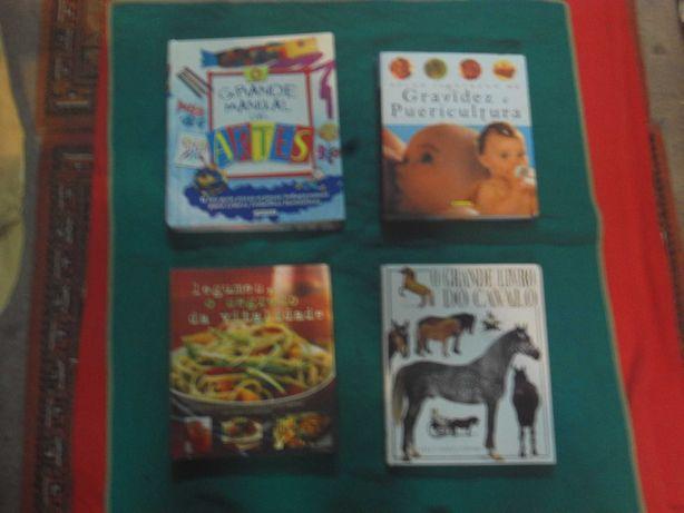 Quatro obras Artes-Puericultura-Culinaria-Cavalos
