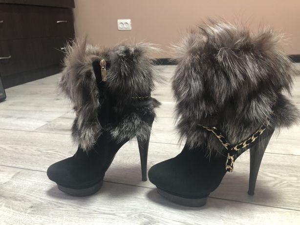 Ботинки демизезонные (чернобурка)
