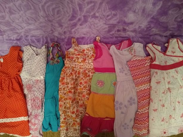 Sukienki na lato 2-4 lata 10 szt.