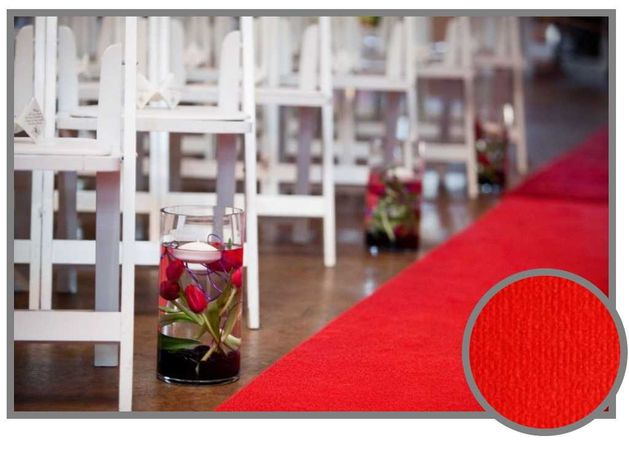Wykładzina dywan chodnik do ślubu czerwona kościół