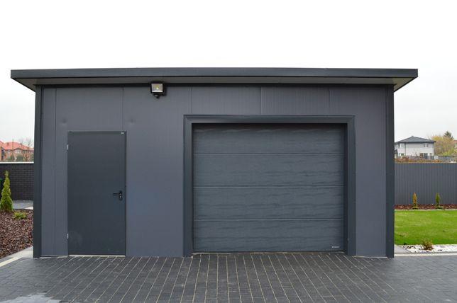 Hala stalowa garaż ocieplany magazyn konstrukcja płyta warstwowa dach