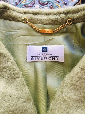 Осеннее пальто пиджак кардиган блейзер мохер шерсть Givenchy 42