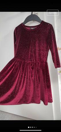 Sukieneczka na święta brokatową