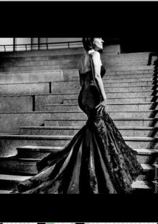 ENZOANI DACOTA czarna suknia s