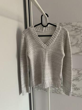 Sweterek sweter szary biały zara czarny XS S M 34 36 38 hm kardigan