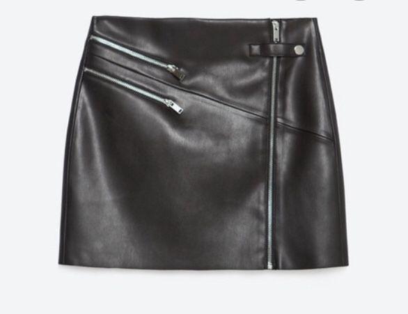 Spódnica | Skórzana | Czarna | Zara | M