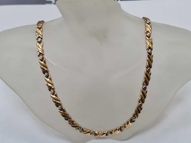 Piękna złota kolia damska/ złoty łańcuszek/ 585/ 17.5 gram/ 44cm