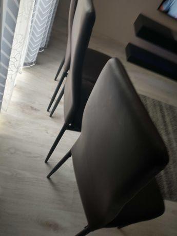 Krzesła ekoskòra 3 sztuki