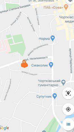 Земельна ділянка в центрі м Чортків.