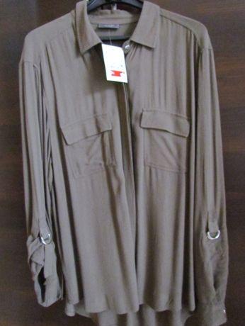 nowa bluzka koszulowa khaki C&A 38-40