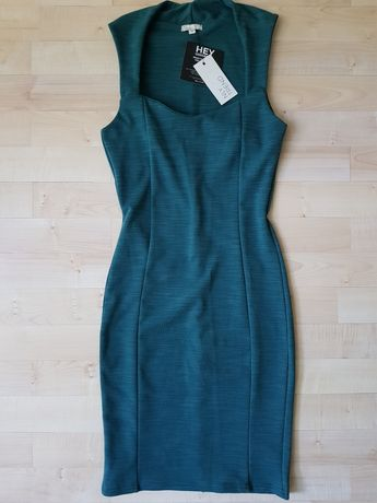 Sukienka NLY TREND XS S butelkowa zieleń zielona NOWA 34