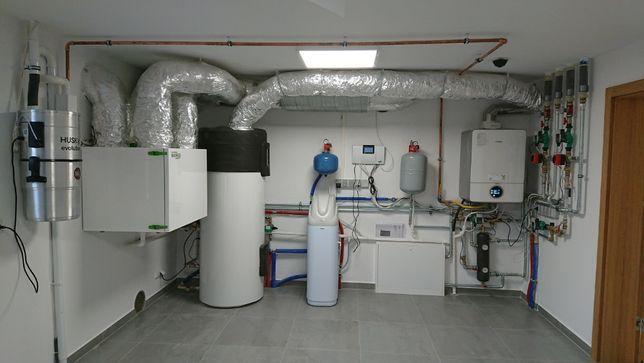 Rekuperacja ogrzewanie hydraulik instalacje co wod-kan