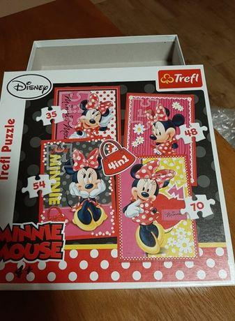 Puzzle Minnie Mouse Trefl 4w1