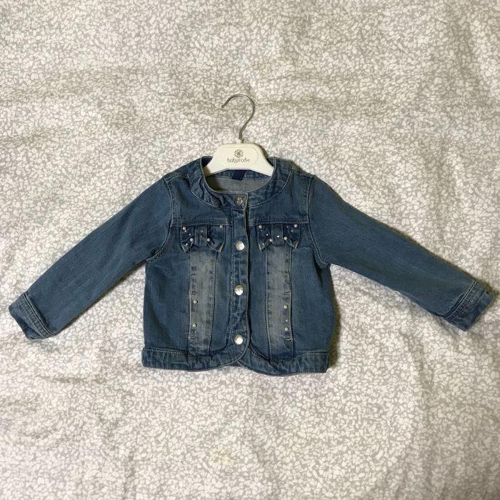 Детская джинсовая куртка, джинсовый пиджак на девочку (~12 месяцев) Одесса - изображение 1