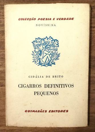 cigarros definitivos pequenos, cidália brito , colecção poesia