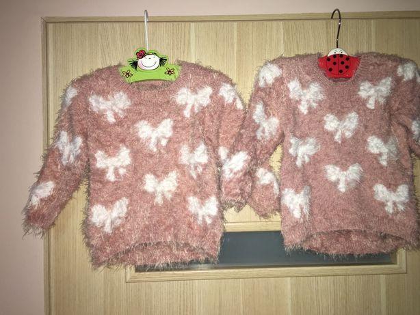 Sweterki dla bliźniaczek 12-18 mies