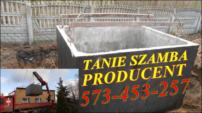 Zbiornik betonowy szamba szambo 8m3 NAJAZD zbiorniki SZYBKO