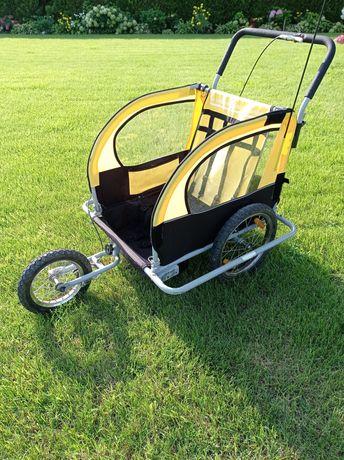 Przyczepka rowerowa wózek na wyprawy 2 osobowy