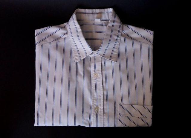 Koszula Męska z Krótkim Rękawem w Paski Pasy