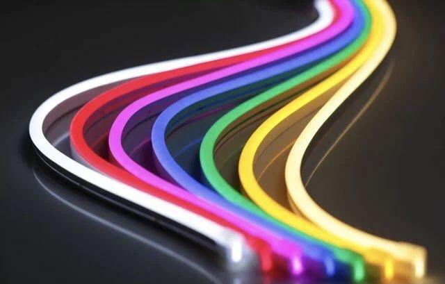 Гибкий неон, неон флекс, led neon flex 220 и 12В, оптом и в розницу