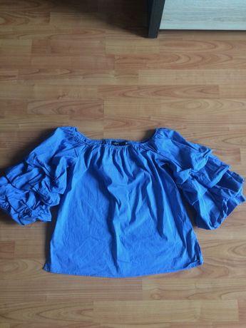 Bluzka z bufiastymi rękawami Zara r XS