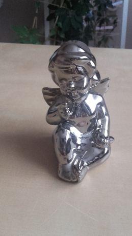figurka srebrny aniołek