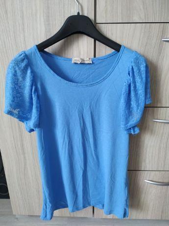 Koszulka niebieska koronka nowa