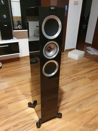 KEF R500 czarne, kolumny podłogowe. Piękne