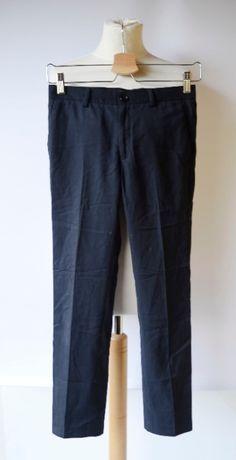 Spodnie Granatowe Garnitur Cubus 146 cm 11 lat Eleganckie Wizytowe