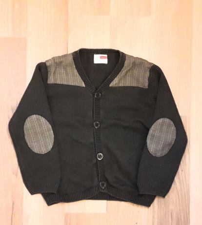 Sweter Name It r.92 rozpinany zielony khaki dla chłopca