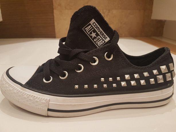 Converse All Star czarne z ćwiekami roz.35