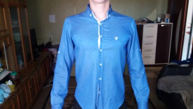 Мужская рубашка голубого цвета (Michel Camica)