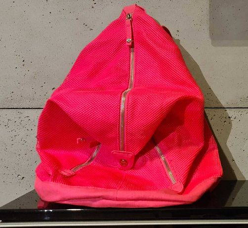 Plecak LiveLoveDream w kolorze neonowy róż