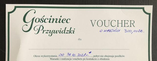 Voucher 300zł  na pobyt w Gościniecu Przywidz wazny do konca 2021 roku