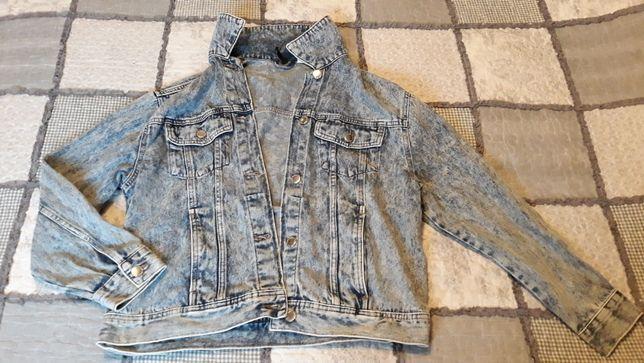 Katana kurtka  dżinsowa jeans rozmiar s marmurkowa