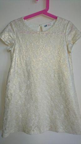 H&M sukienka koronka 6-8 lat 116 cm