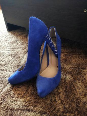 Туфлі замшеві сині