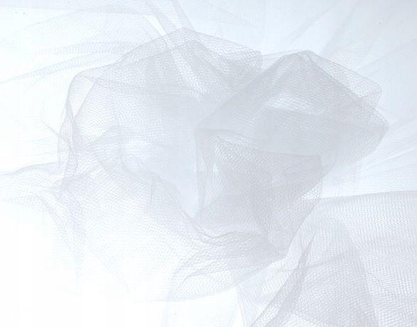 303-72 tiul miękki tkanina biały ślub wesele dekoracje 1m