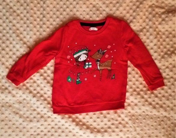 Bluza czerwona świąteczna