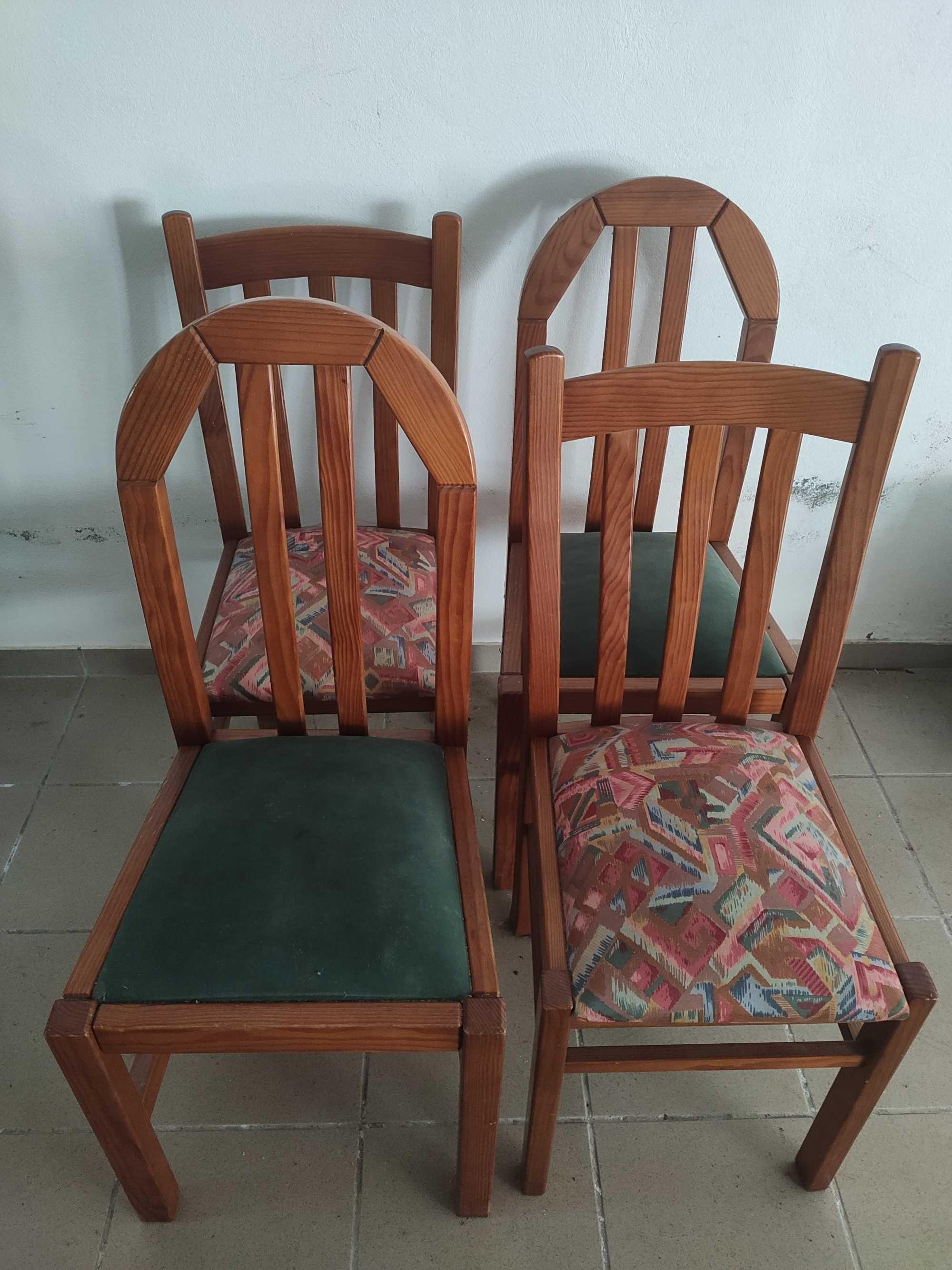 Conjunto de 4 cadeiras de sala de jantar